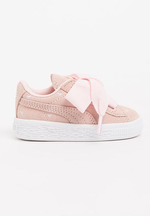 b4d76c9fa65bb0 Suede Heart Valentine Infants Pearl - light pink PUMA Shoes ...