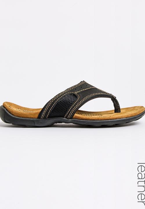 Sandals Bata Leather Black Flip Flops Weinbrenneramp; Thong NnXPk8wO0
