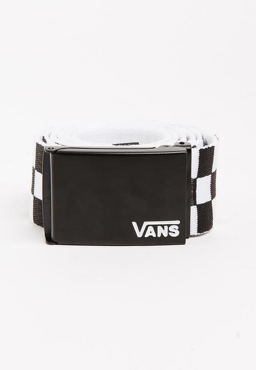 2bcefcdad56 Deppster II Web Belt Black and White Vans Belts