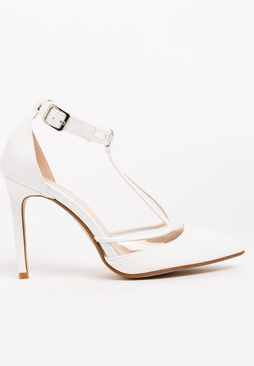 buy popular free shipping coupon code Piola T-Bar Heels White Footwork Heels | Superbalist.com