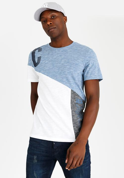 067765a3f301 AXELS Crew Neck Tee - blue Jack   Jones T-Shirts   Vests ...