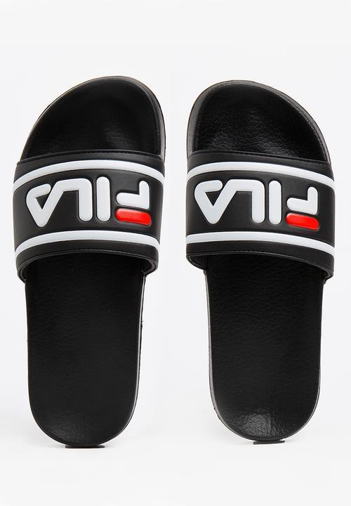 1746154ca33f9 Dino Slides Black FILA Sandals   Flip Flops