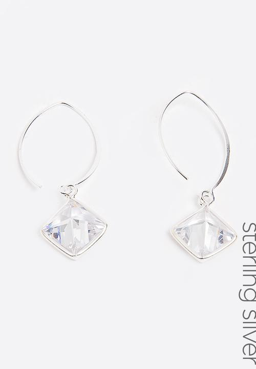 7700c5477 Sterling Silver Diamante Earrings Silver Joy Collectables Jewellery ...