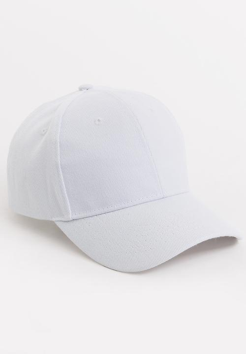 755bee6370b Plain Cap White STYLE REPUBLIC Headwear