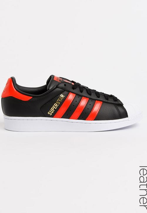 buy popular 5389b 18cdd adidas Originals - adidas Superstar Leather Sneakers Black and White