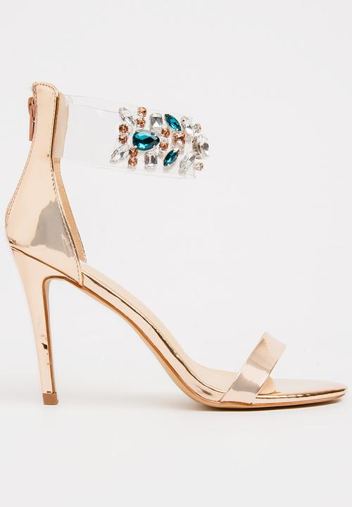 003d5ad433a897 Byron Embellished Heels Rose gold Footwork Heels