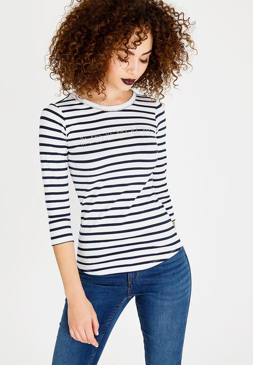 e47ed0e826 Basic Logo Tee Navy & White Sissy Boy T-Shirts, Vests & Camis ...