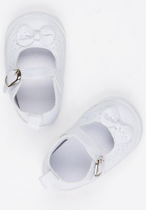Infant bow pumps - white POP CANDY