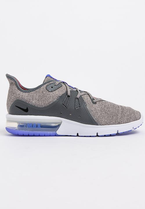44eb2b66c00 Nike Air Max Sequent 3 Runners Dark Grey Nike Trainers