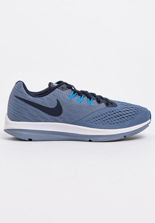 086873194c5 Nike Air Zoom Winflo 4 Runners Mid Blue Nike Trainers