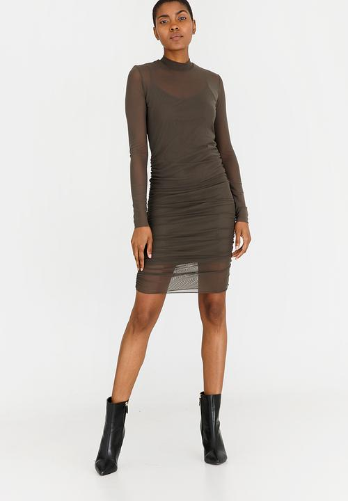 57aa6690e97 Mesh Bodycon Dress - grey STYLE REPUBLIC Formal