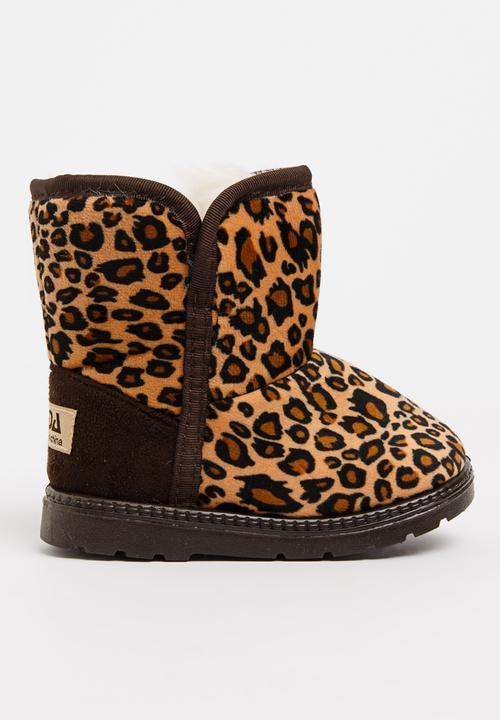 2ffe23583d2f Girls Leopard Print Boot Tan POP CANDY Shoes | Superbalist.com