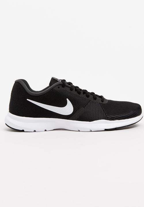 2b25b1e9b5f5 Nike Flex Bijoux Training Sneakers Black and White Nike Trainers ...