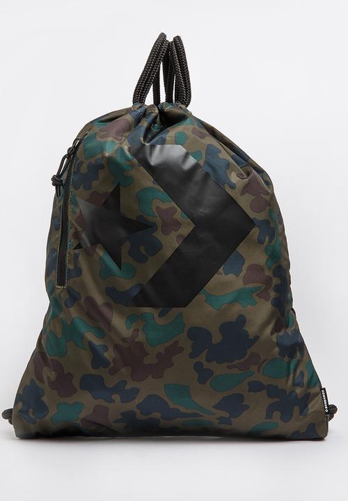 0af085c2c340a5 Camo Gymsack Bag Khaki Green Converse Bags   Purses