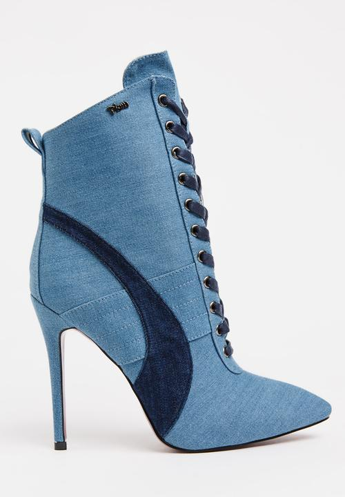 6a82abf3dccc Juno Lace-Up Ankle Boots Blue Plum Boots