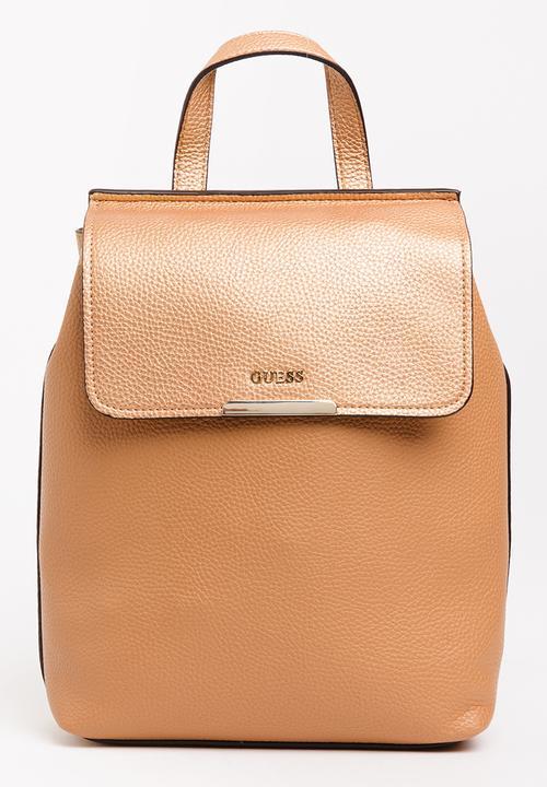 b042f616e6 Varsity Pop Backpack Tan GUESS Bags   Purses