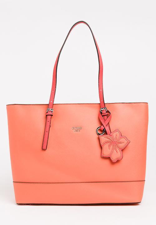 Chandler Tote Bag Coral GUESS Bags & Purses