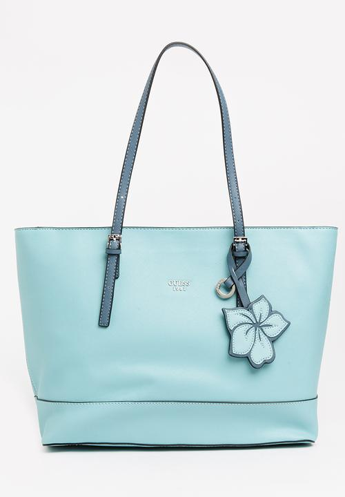 cb3e77c43221 Chandler Tote Bag Aqua GUESS Bags   Purses
