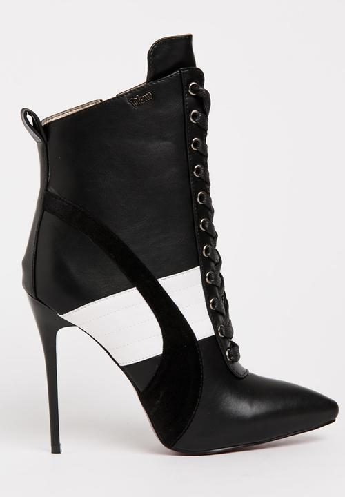 how to orders variety design entire collection Fix Lace-Up Ankle Boots Black