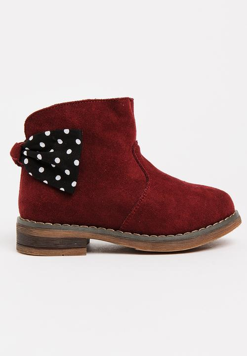 183809539 Girls Ankle Boot Burgundy POP CANDY Shoes | Superbalist.com