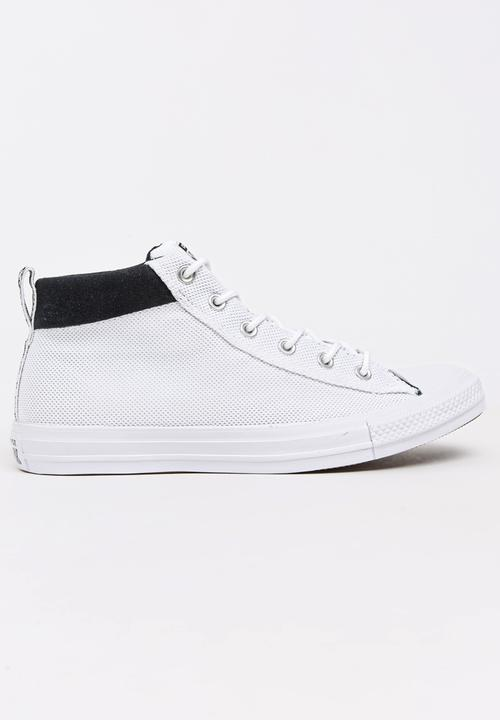 83a4ef06c4360f Chuck Taylor All Star Street Mid Sneakers White Converse Sneakers ...