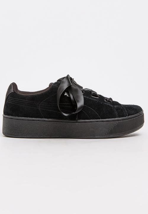 Vikky Platform Ribbon Sneakers Black PUMA Sneakers  e996a4058