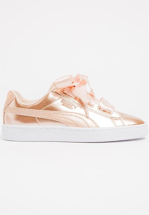 regard détaillé 8c3f1 bc02d Puma Basket Heart Lunar Lux Sneaker Rose gold