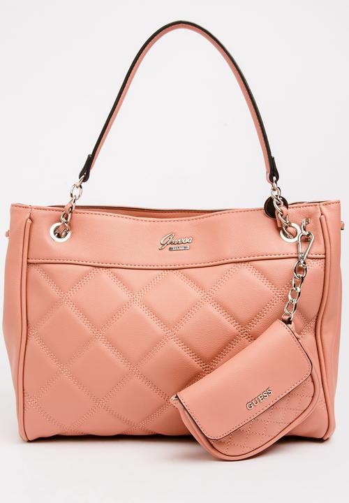 388adb09da7c Cheerleader Satchel Bag Rose GUESS Bags   Purses