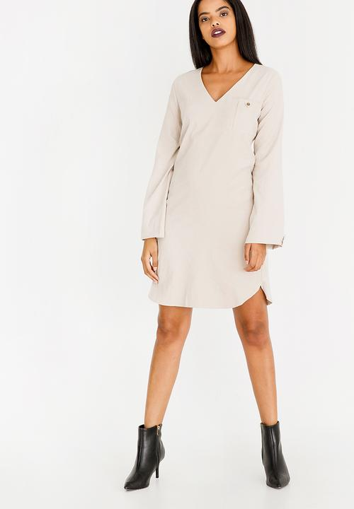 efbc767dd1c Suede Shift Dress Stone G Couture Casual
