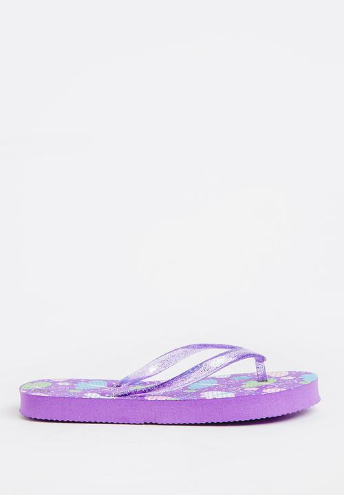 5ab679e2bb557 Printed flip flops - purple POP CANDY Shoes