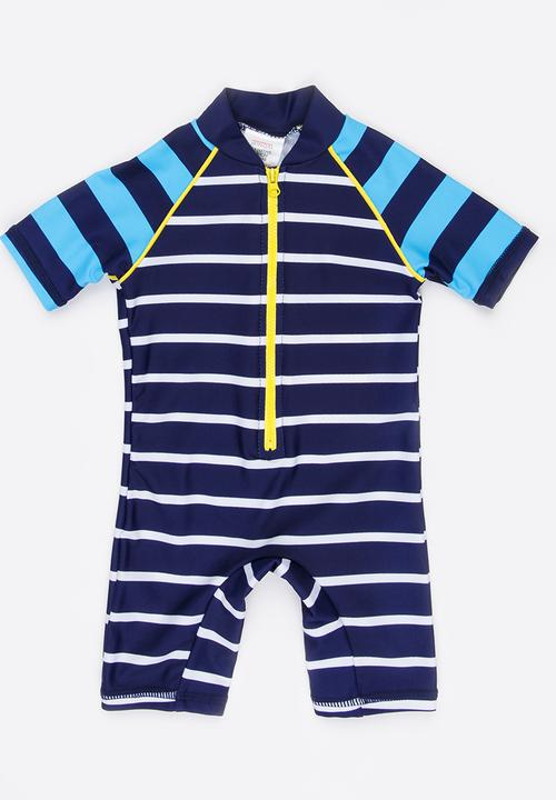 1033b1a91 Infants boys blue stripe rash all in one - blue multi MINOTI ...