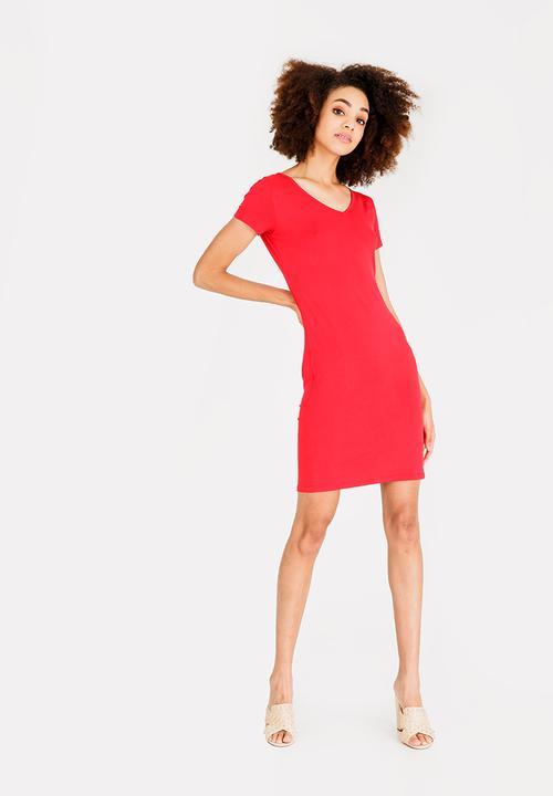 277c0ddafb17 V-Neckline Bodycon Dress Red c(inch) Casual | Superbalist.com