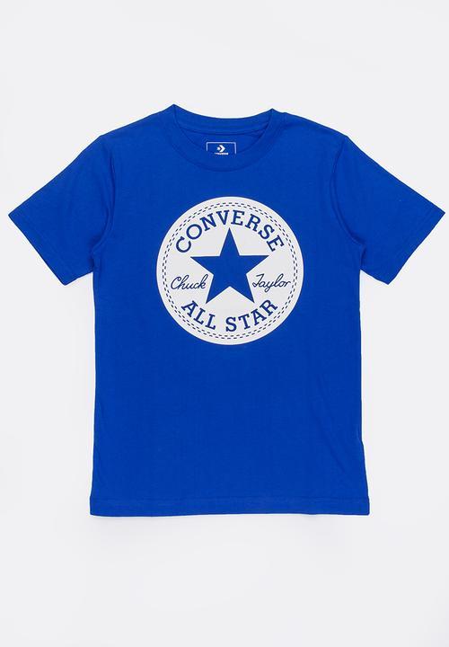 b4d695b73fdf Converse Chuck Taylors script tee - blue Converse Tops