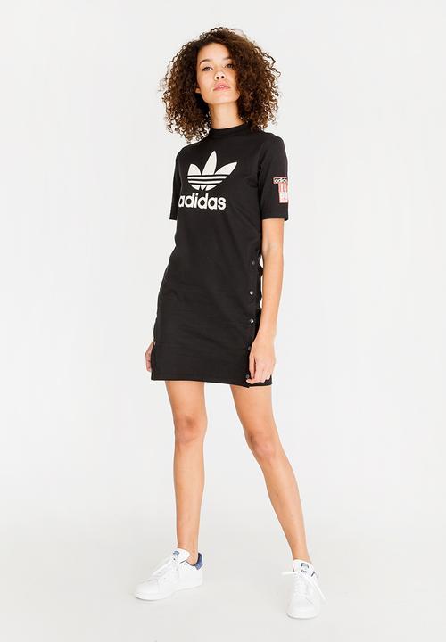 18371f22463 Tee dress - black   white adidas Originals Casual