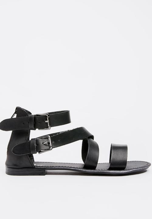 e1946bedb34 Gladiator sandal - black edit Sandals   Flip Flops