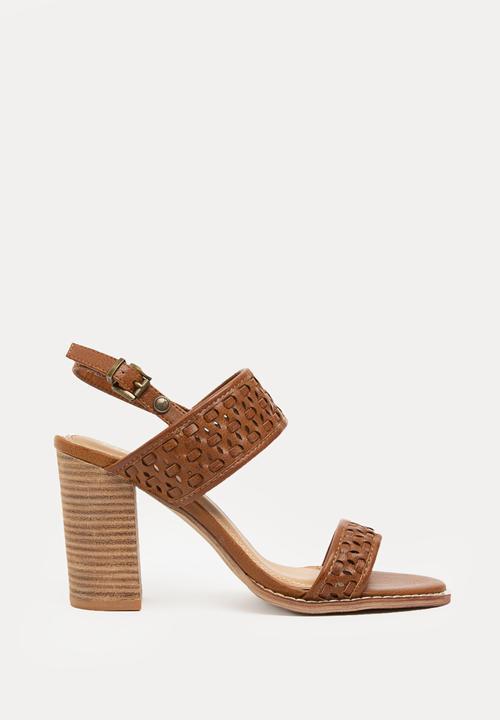 7310c3324fe Micah Double Strap Block Heels Tan POLO Heels