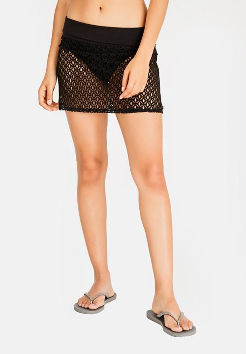 Crochet Cover Up Mini Skirt Black Kangol Kaftans Cover Ups