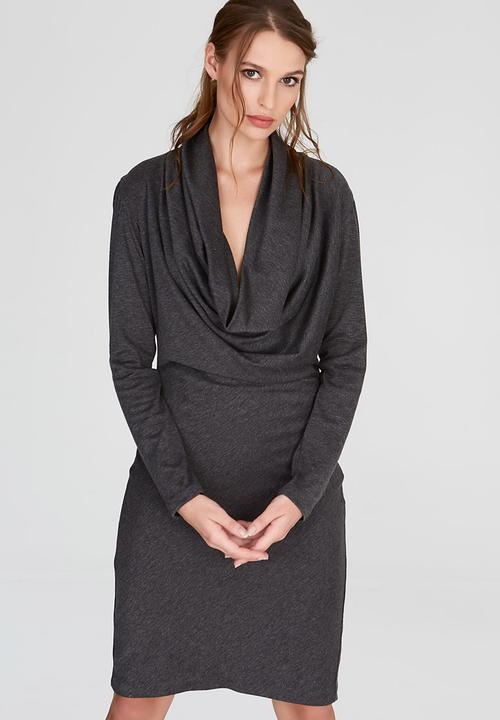 Long Sleeve Cowl Dress