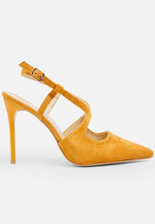 99b524aecf6 Cross strap stiletto - yellow STYLE REPUBLIC Heels