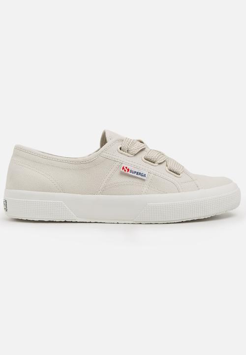 Big Lace Sneakers Pale Grey SUPERGA