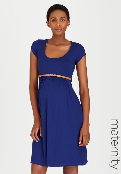 Belted Scoop Neck Dress