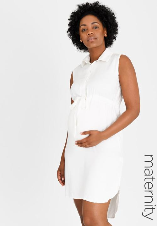 35bb86ce1216b Shirt Dress White edit Maternity Dresses & Jumpsuits | Superbalist.com