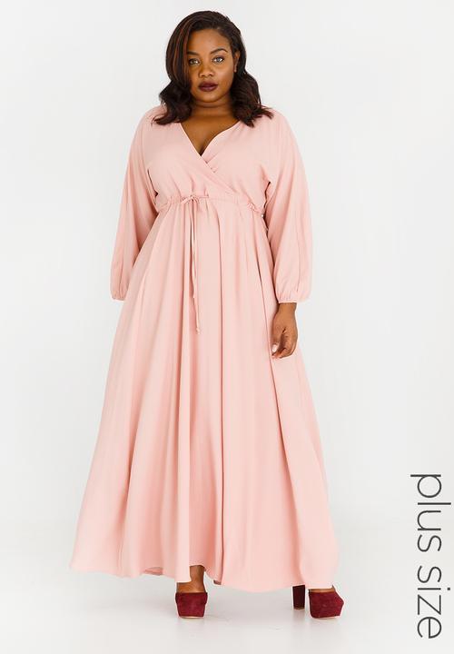 519466d362 Eleonora Satin-like Maxi Dress Rose AMANDA LAIRD CHERRY Dresses ...
