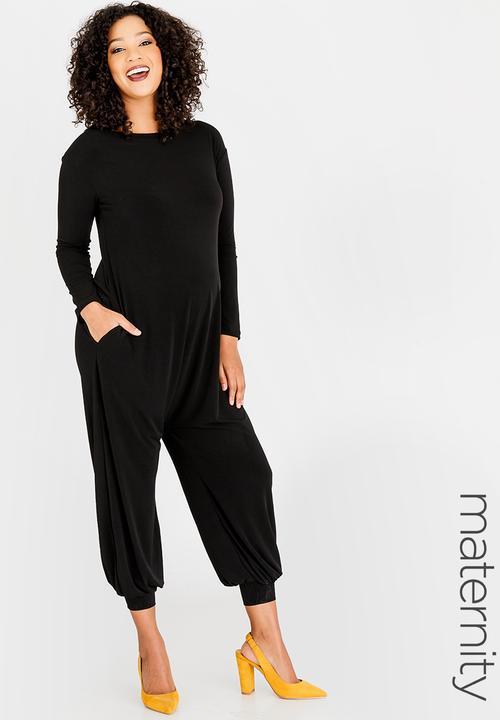 6edadaa81b Harem Jumpsuit Black edit Maternity Dresses   Jumpsuits ...