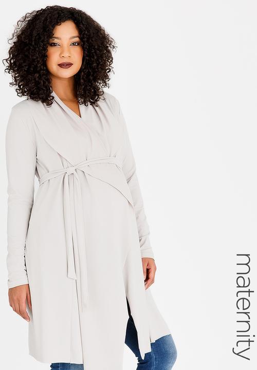 ac476e2a4257a Jersey Waterfall Cardigan Cream edit Maternity Jackets & Coats ...