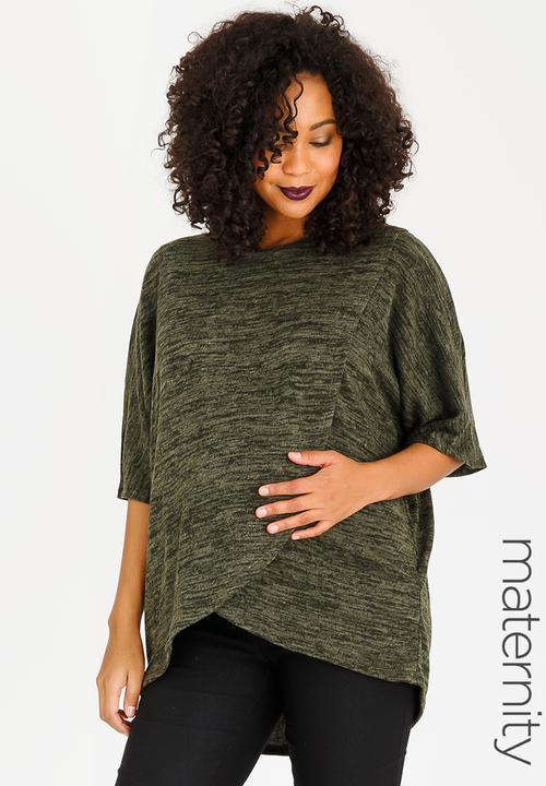 e894874adf1a9 Oversized Feeding Poncho Khaki Green edit Maternity Jackets & Coats ...
