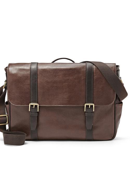 399958bf5 Estate EW Messenger Bag Dark Brown Fossil Accessories Bags & Wallets ...