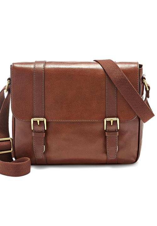 Estate EW City Bag Mid Brown Fossil Accessories Bags   Wallets ... 645fd9c4dce23