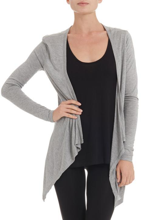 7d146832acc Wrap cardigan Grey Betty Basics Jackets   Coats