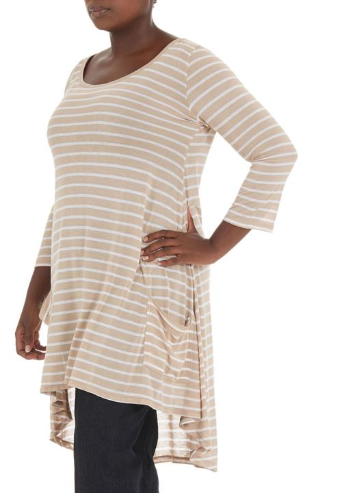 78a71dc76a1 Swing top with pockets Stone Beige Megalo Tops
